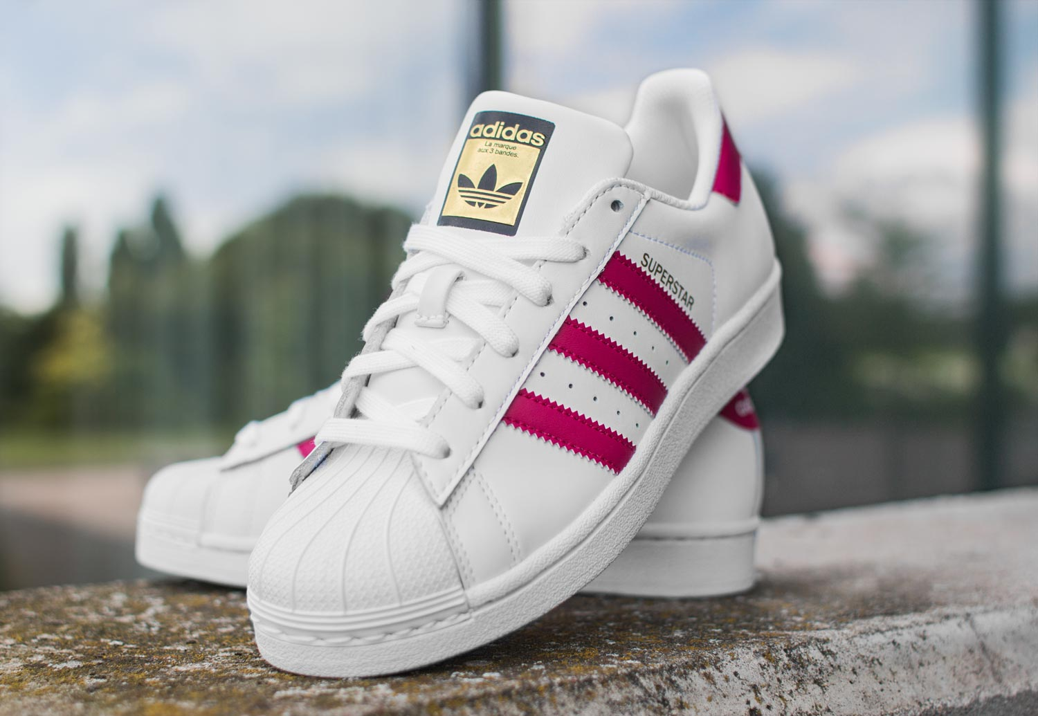 adidas superstar bande rose