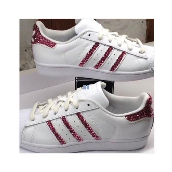acheter en ligne 45a35 7ea1b Paillette Groupe dédié Adidas Promotion Rose À De Superstar ...