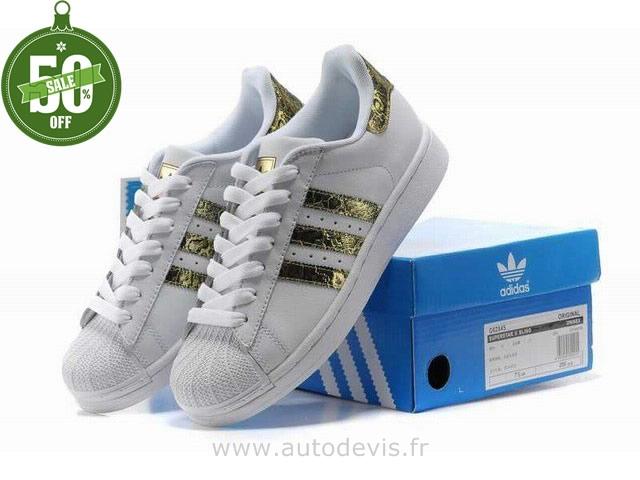 adidas Superstar Paillettes Argentée Chaussures Baskets